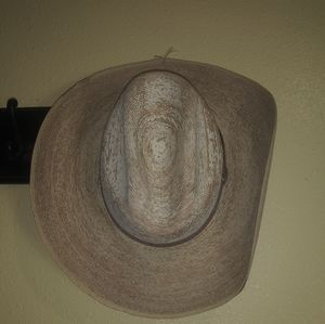 Distressed Straw Cowboy Hat